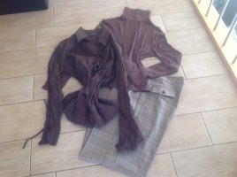 3 Suisses Jersey Pants dark brown-light brown