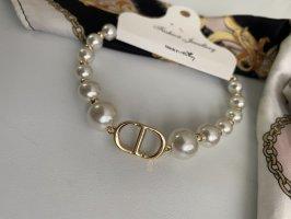 Armband goud-wit