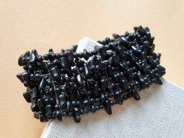 Perlen Armband Schwarz Edel Armschmuck Schmuck Dehnbar
