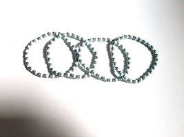 Bracelet en perles argenté-turquoise