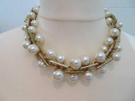 Zara Collar estilo collier blanco-color oro