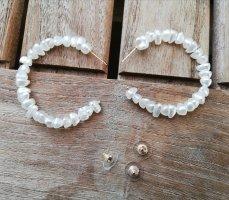 Perlen Imitat Ohrringe Kreolen Hoops