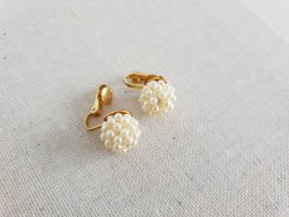 Retro Ohrclips Earclip oatmeal-gold-colored