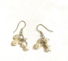 Vintage Boucles d'oreilles en perles multicolore