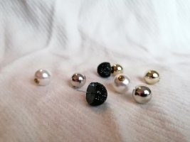 Perlen Ohrstecker Set mit Ring, Perlenohrstecker, Herzring