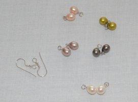 Kolczyk z perłą Wielokolorowy