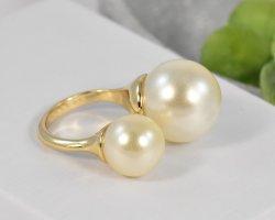 keine Gouden ring brons-wit Metaal