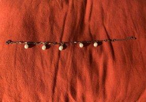 Bracelet cream-silver-colored