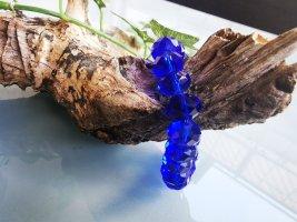 Perlenarmband, Blau, Glänzend