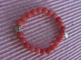 Pilgrim Bracelet en perles saumon-rouge clair