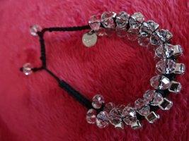 Perlenarmband Makrameeperlen mit Swarovski-Kristallen