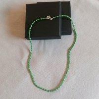 handmade unikat Collar de perlas verde