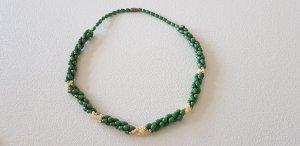 Collar estilo collier blanco puro-verde bosque