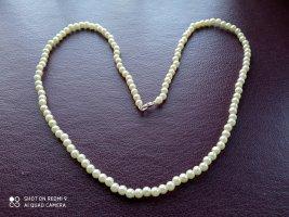 Collar de perlas blanco puro-color plata