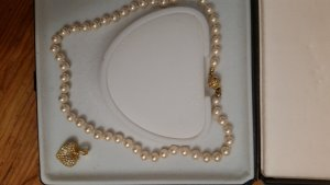 Pearl Necklace gold-colored-natural white