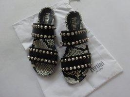 Pertini mega coole Nieten Sandalette black 40 NEU NP 229€