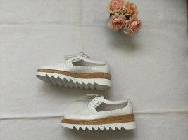 Pertini, Schuhe, weiß, Plateau, Kork, weiße Sohle, Gr. 37 ½, NEU, NP 199
