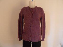 Peter Hahn Knitted Cardigan brown violet wool