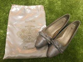 Peter Kaiser Ballerina di pelle verniciata argento-grigio