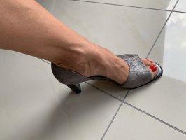 Peter Kaiser grau/silberne Schuhe, 5 = 38