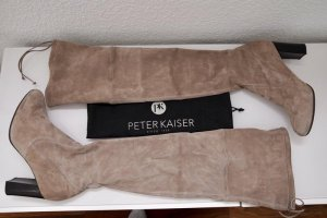 Peter Kaiser Overknees beige leather