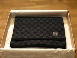 Louis Vuitton Bufanda de punto gris antracita-gris oscuro Lana