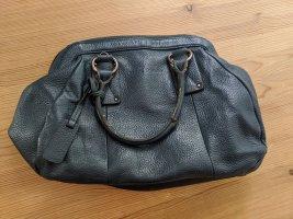 Petrolfarbene Handtasche aus Leder, Marco O' Polo