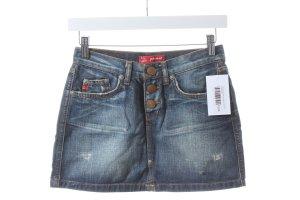 Phard Gonna di jeans blu scuro-bianco sporco aspetto di seconda mano