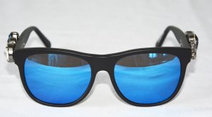 Philipp Plein Gafas de sol cuadradas negro-azul metal