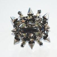 Philipp Plein Damen Zwei-Finger Statement Ring Rock Stern  M