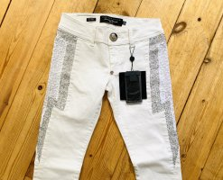 Philipp Plein Slim Jeans white cotton