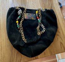 Philipp Plein Leder Tasche shopper Schultertasche schwarz mit Gold silberner & bunter Hardware