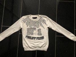 Philipp Plein pullover Strass weiß Gr. S