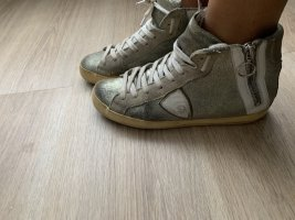 Philippe Model High Top Sneaker light grey-silver-colored