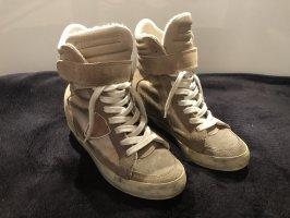 Philippe Model High-Top Sneaker in beige /gold Gr.38