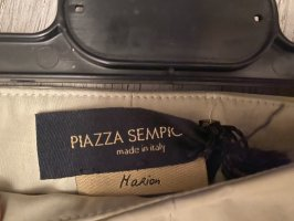Piazza Sempione Jersey Pants oatmeal cotton