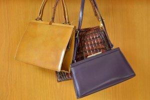 PICARD Oma´s kleine Handtasche Lila Flieder Bügeltasche Henkeltasche Vintage