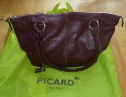 Picard Shopper Umhängetasche Pleasant 8577 Leder Bordeaux Beere Top!