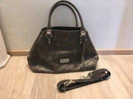 Picard Tasche Handtasche Shopper Cross Body grau Leder