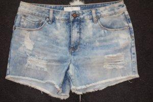 PIECES distressed denim shorts mit cooler Waschung GR.L/XL
