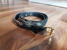 Pieces Cintura in tessuto nero-oro