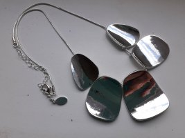 Piemonte Colliers ras du cou argenté métal