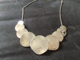 Piemonte Halskette silberfarben mit 9 Anhängern - selten getragen
