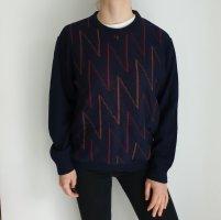 Pier Angelini 50 Oversize Pullover Hoodie Pulli Sweater Strickjacke Top Oberteil True Vintage