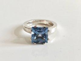 Pierre Cardin Edelstein 925 Silber Ring Silberring hellblau blau solitär