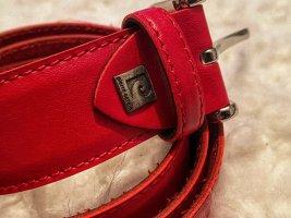 Pierre Cardin Cinturón de cuero de imitación negro-rojo