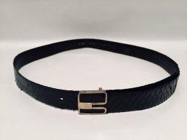 Pierre Cardin Vintage Gürtel aus schwarzem Schlangenleder