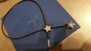Pierre Lang Kette mit 2 variablen silbernen Sternen Anhängern Zirkonia