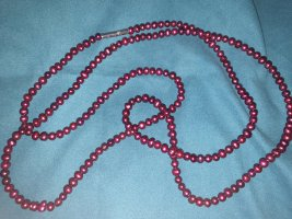 Pierre Lang Perlenkette Bordeaux
