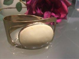 Pilgrim Sztywna bransoletka złoto-kremowy